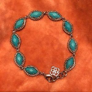 Kendra Scott Turquoise Silver Jana Bracelet